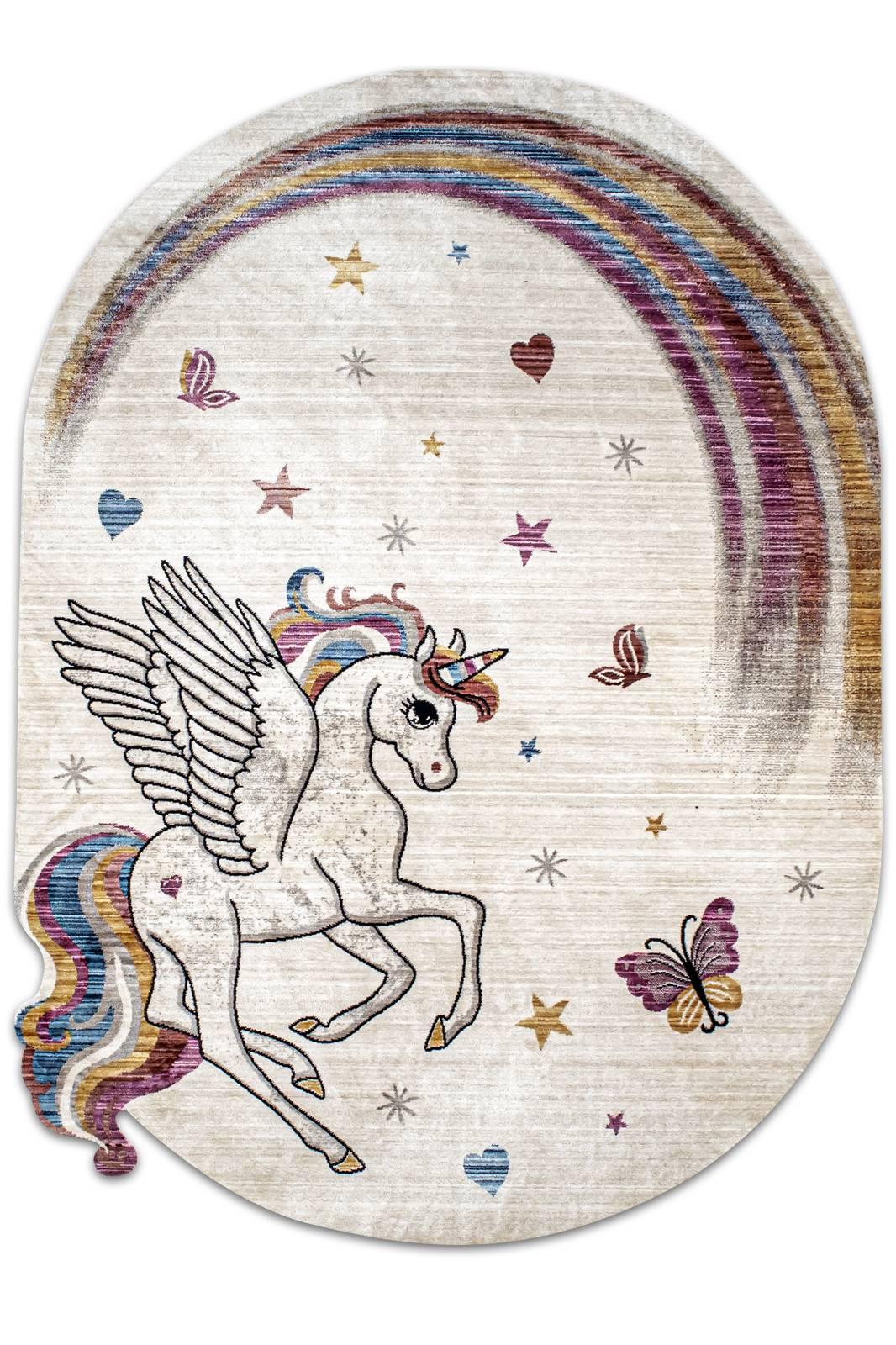 Angora Home Kids Unicorn Desenli Pembe Çocuk Halısı - 1