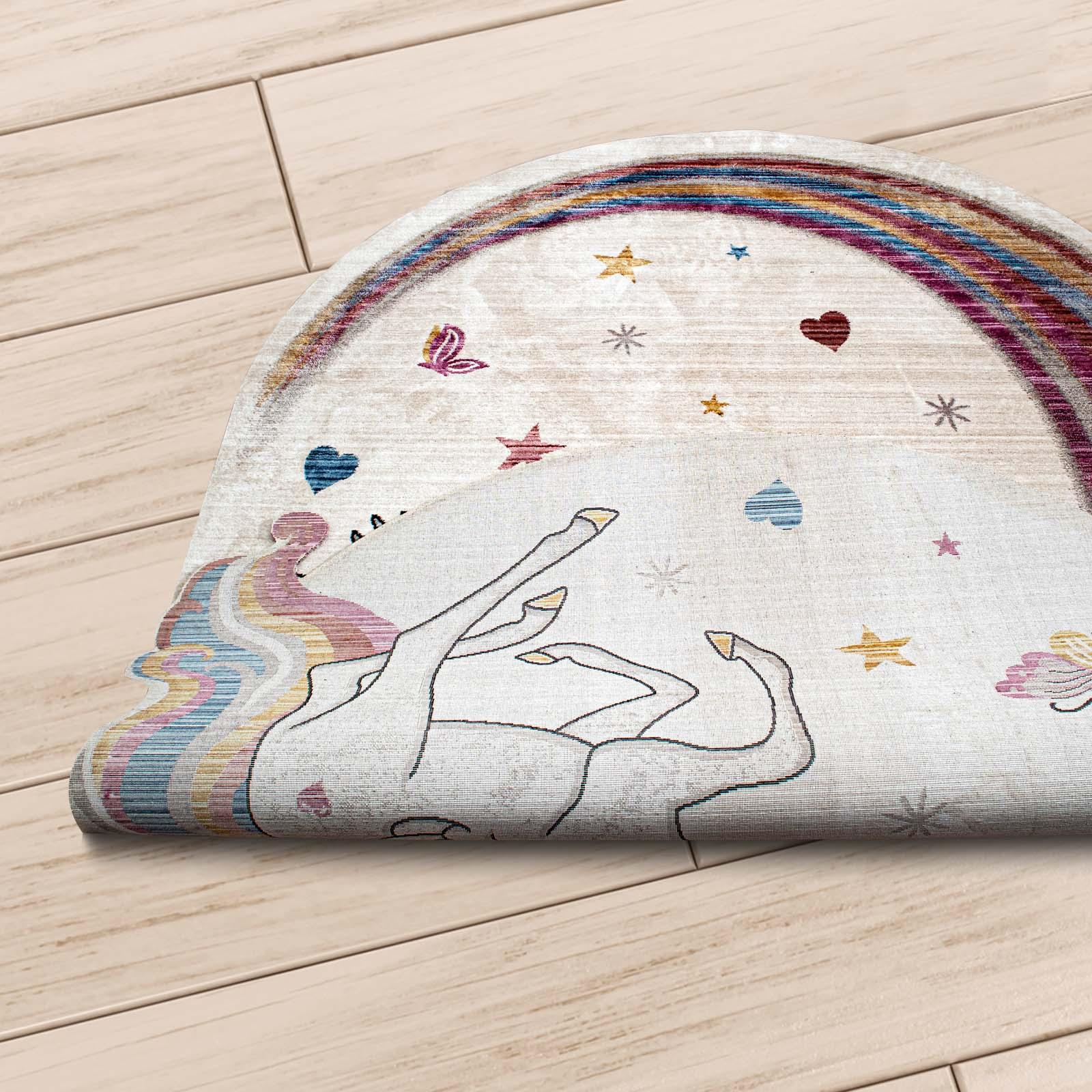 Angora Home Kids Unicorn Desenli Pembe Çocuk Halısı - 2