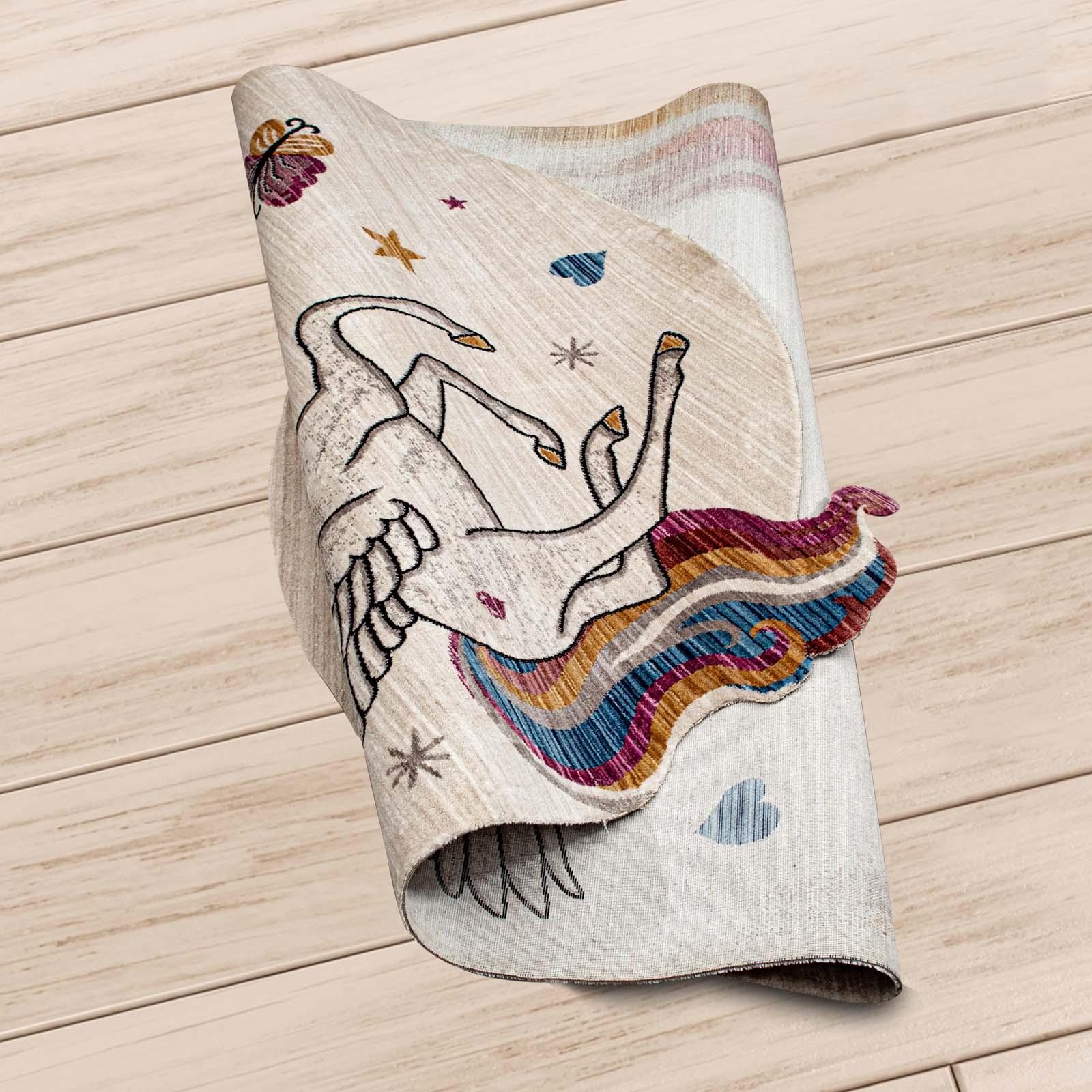Angora Home Kids Unicorn Desenli Pembe Çocuk Halısı - 3