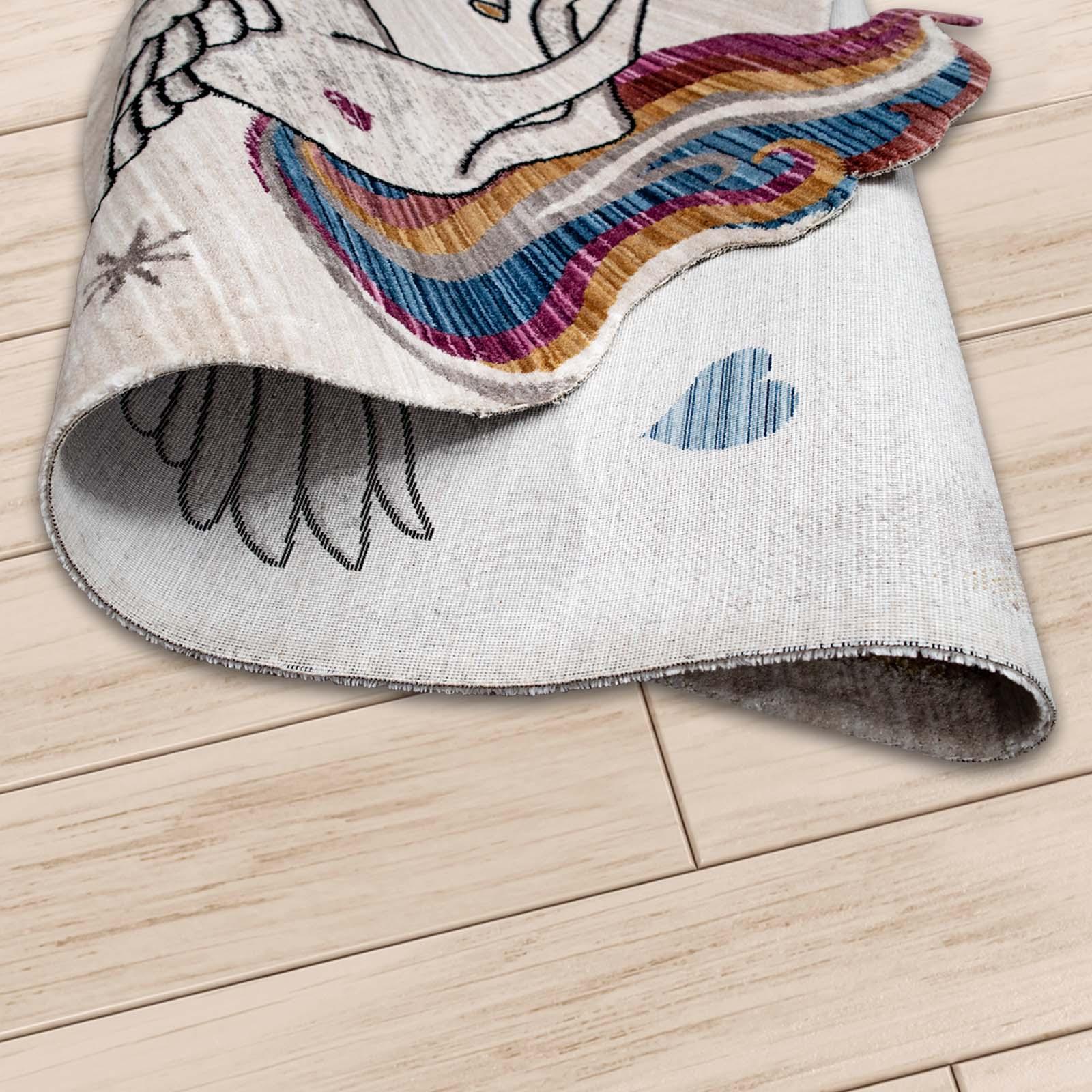 Angora Home Kids Unicorn Desenli Pembe Çocuk Halısı - 4