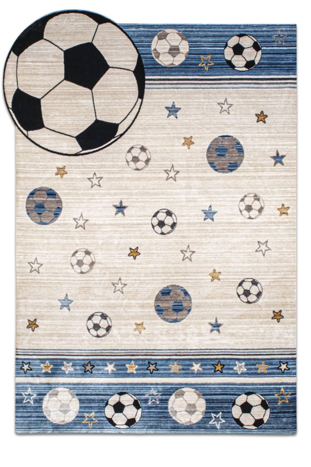 Angora Home Kids Futboltopu Desenli Mavi Çocuk Halısı - 1