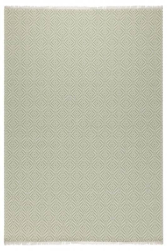 Koza Halı Casa Cotton Yeşil Krem Kilim 21403A - 2