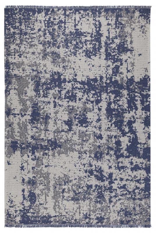 Koza Halı Casa Cotton Lacivert Antrasit Kilim B2694A - 2