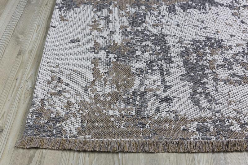 Koza Halı Casa Cotton Vizon Gri Kilim B2694A - 3