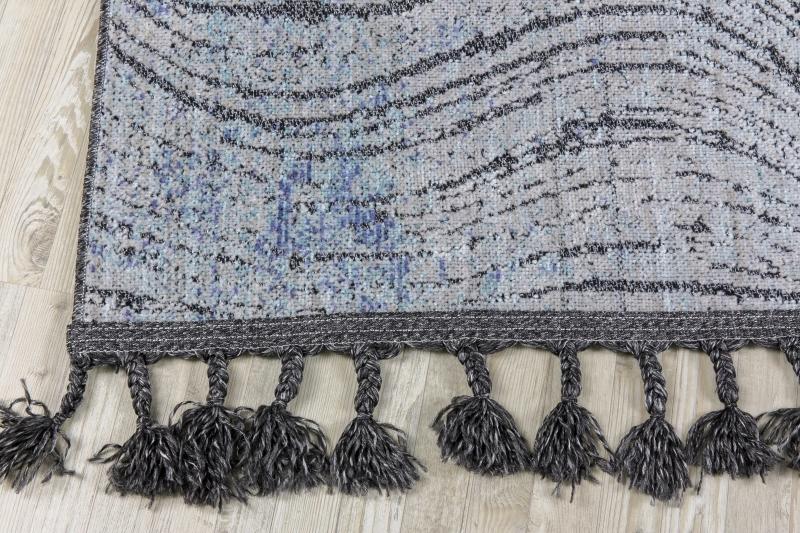 Koza HalıRetro Siyah-Mavi Kilim 30256A - 3