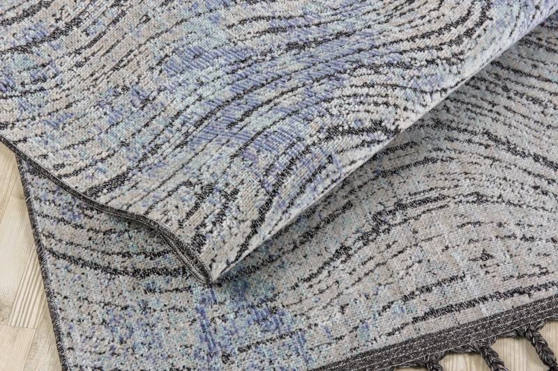 Koza HalıRetro Siyah-Mavi Kilim 30256A - 4
