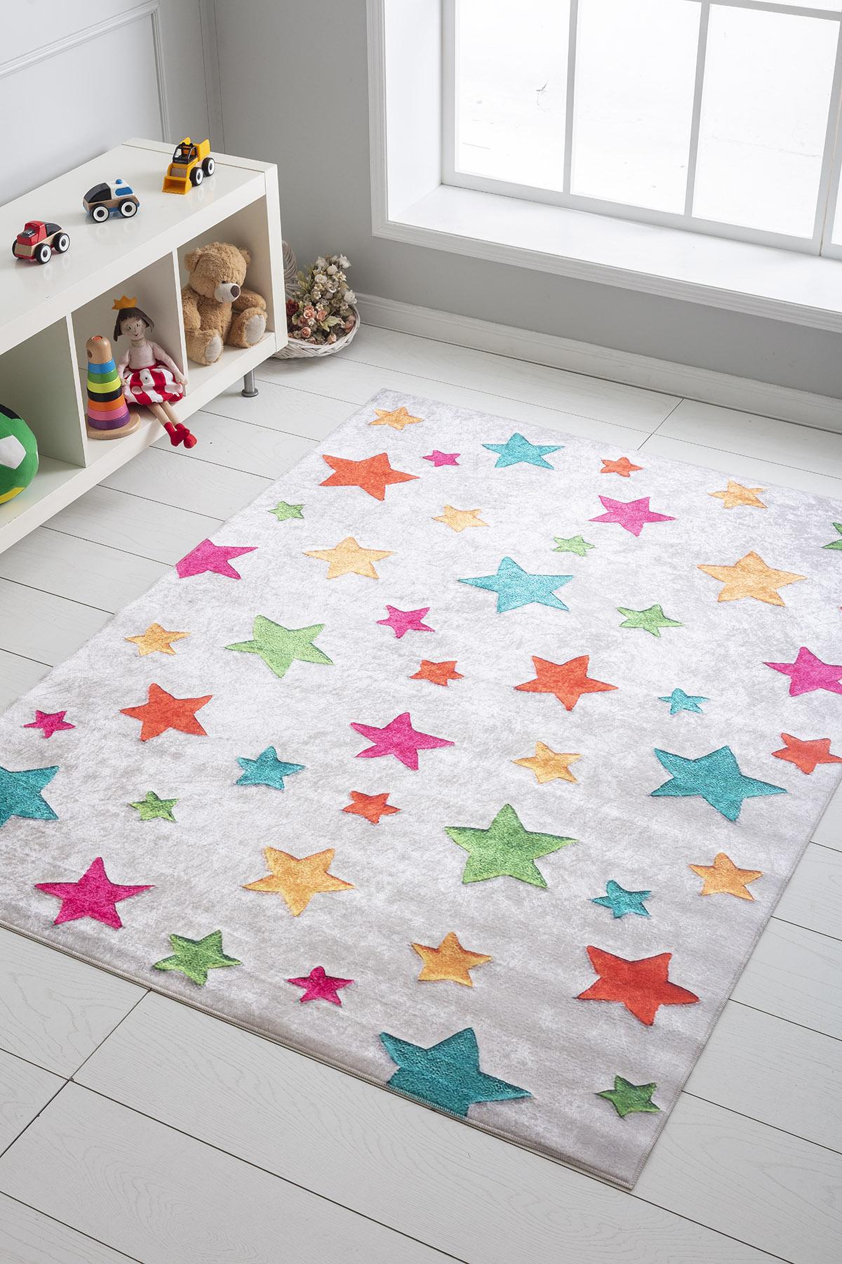 Meva Yıldızlı Çocuk Halısı MEVA701 - 2