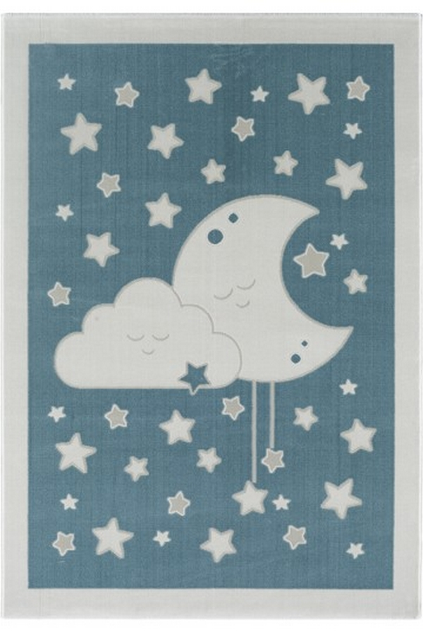 Tuval Halı Çocuk Halısı Mavi ST301M